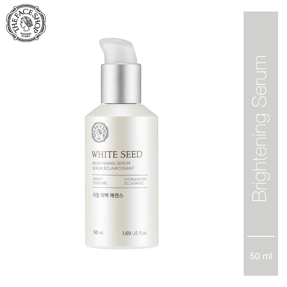 [THEFACESHOP] Anti Aging Serum Facial Moisturizer, Advanced Brightening and Skin Repair with Natural White Seed Extract - 1.69 Oz 50 mL by THEFACESHOP