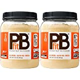 PBfit All-Natural Organic Peanut Butter Powder, 30 Ounce, Peanut Butter Powder from Real Roasted Pressed Peanuts, Good Source of Protein, Organic Ingredients (Pack of 2)