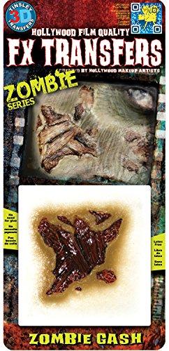 Loftus International 3D FX Transfers Zombie Gash Wound Novelty -