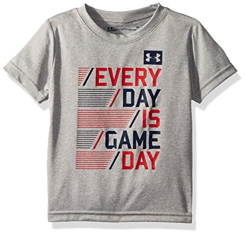 Under Armour Toddler Boys' Every Game Day Short Sleeve T-Shirt, True Grey Heather, (Day Short Sleeve Tee)
