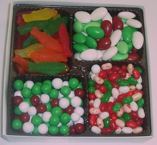 Scott's Cakes Large 4-Pack Christmas Mix Jelly Beans, Dutch Mints, Christmas Jordan Almonds, & Swedish Fish by Scott's Cakes