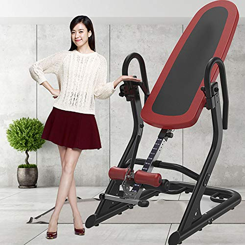 ZUZEN Multifunctional Collapsible Inverted Machine Strength Training Inverted Equipment Inversion Table of Back Pain Innovation Inverted Table Family Fitness ()