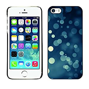 LECELL -- Funda protectora / Cubierta / Piel For Apple iPhone 5 / 5S -- Bokeh Snowflakes Snowing Christmas --