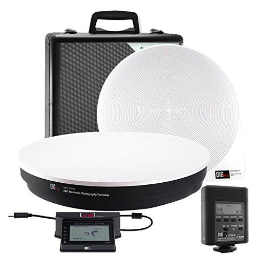 Digpro 360LK2 360 Product Photography Turntable (White/Black)