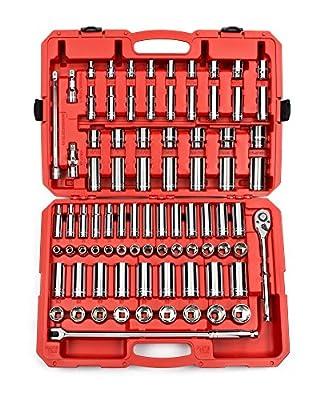 TEKTON Socket Set, Inch/Metric