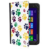 VanGoddy Mary 2.0 Standing Portfolio Case for DigiLand 10.1 inch Tablets, Colorful Dog Paw