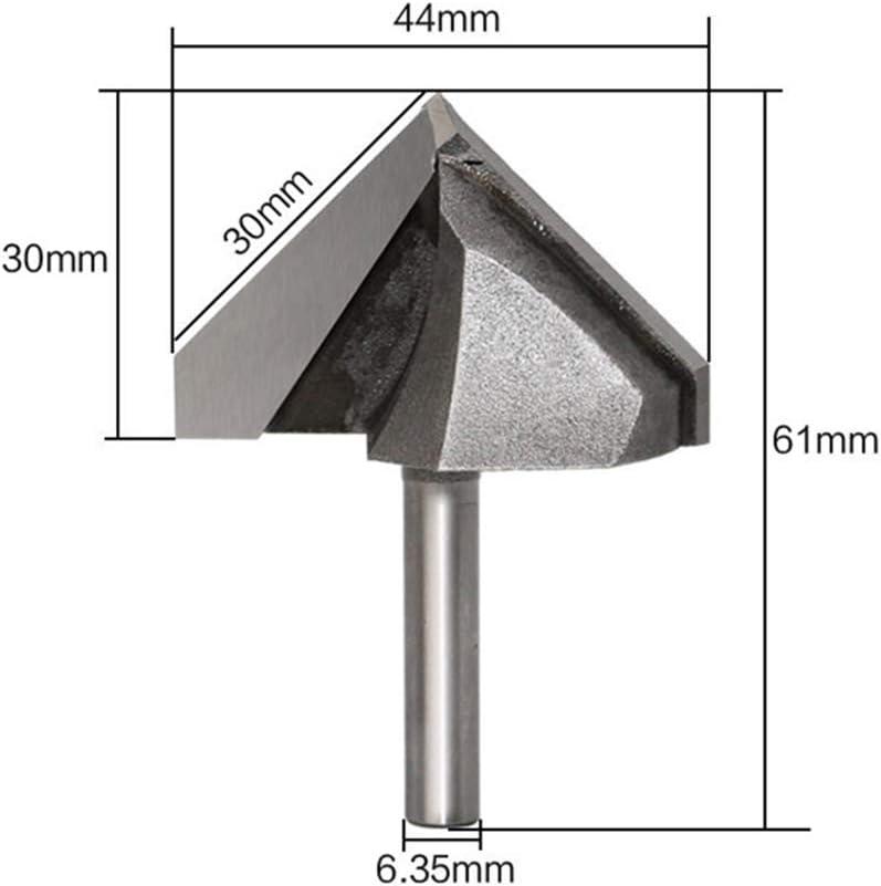 para carpinter/ía 1//4 x 1-3//4 pulgadas herramienta de corte tipo V para herramientas de carpinter/ía Fresa de metal duro de 90 grados