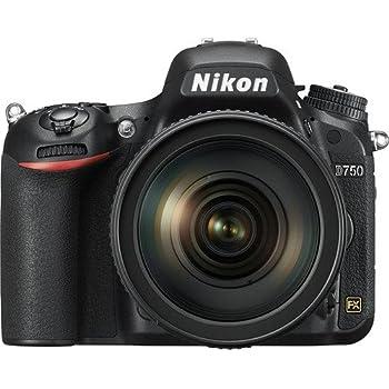 Nikon D750 DSLR 24.3MP Digital Camera w/ AF-S NIKKOR 24-120mm f/4G ED VR Lens with 64GB SDXC Memory Card Plus Triple Battery Accessories Bundle