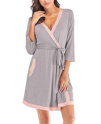 HHXWU Pijamas de otoño e Invierno Pijama Mujer Suelta Servicio de casa Pijamas de Color de