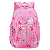 Macbag School Backpack Bookbag Durable Camping Backpack for Boys and Girls (Pink 4)