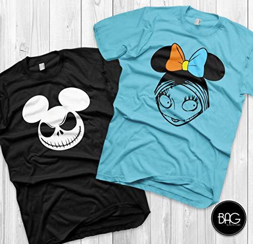 Jack and Sally Matching Shirts Disney Couples Shirts Jack Skellington and Sally Custom Matching Shirts Couple vacation