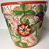 TALAVERA VASO PLANTER (ORANGE)