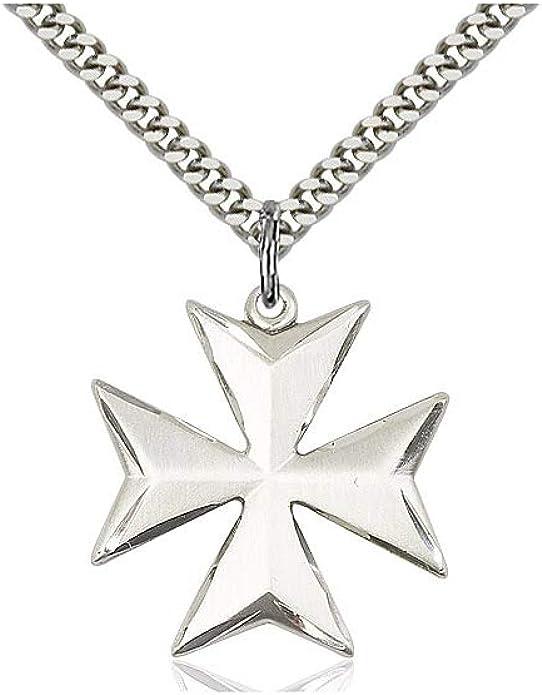 DiamondJewelryNY Cross Pendant Unisex Silver Cross Pendant