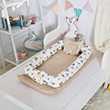 Ukeler Baby Lounger/Bed Bassinet - Portable Baby Nest - 100% Cotton Cosleeping Baby Bed - Breathable & Hypoallergenic Sleep Nest