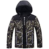 FANOUD Camouflage Print Pullover Long Sleeve Hooded Tops Blouse Mens