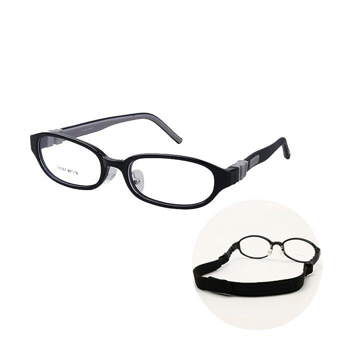 9f06f7e3f5 Amazon.com  Kids Eyeglasses Bendable Plano Lenses Size 49mm ...