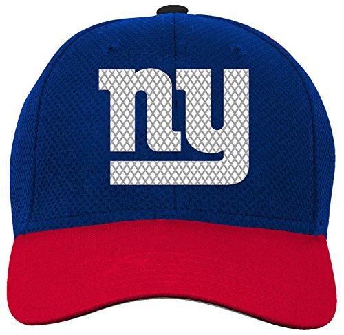 NFL Youth Boys Tech Structured Snapback Hat-Dark Royal -1 Size, New York Giants