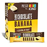 Pressed by KIND Fruit Bars, Chocolate Banana, No Sugar Added, Gluten Free, 1.34oz, 12 Count