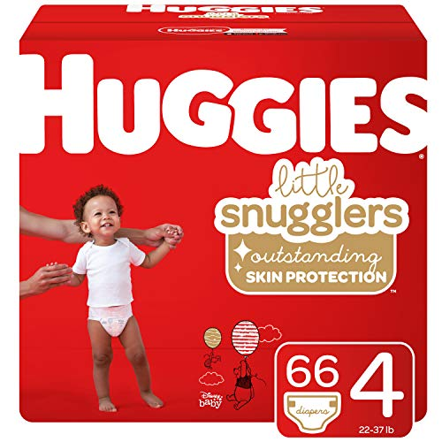 Huggies Little Snugglers Baby Diapers, Size 4, 66 Count (Packaging May Vary)
