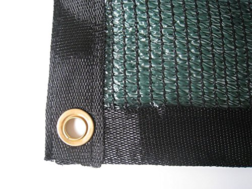 E.share Best Quality 70% UV Shade Cloth Green Premium Mesh Shadecloth Sunblock Shade Panel any size (12 ft x 18 ft)