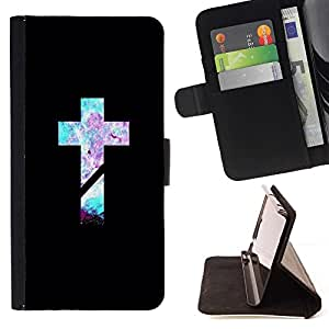 For Sony Xperia Z1 Compact D5503 Jesus Christ Bible Minimalist Black Beautiful Print Wallet Leather Case Cover With Credit Card Slots And Stand Function