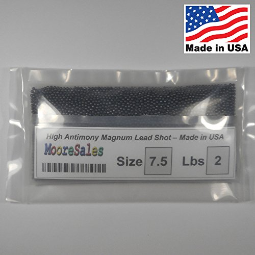 Lead Shot Balls #7.5 bag 2 lbs (32 oz) (907 gm) MADE IN USA!! ()