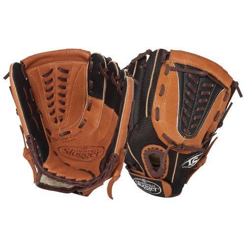 Louisville Slugger 12-Inch FG Genesis Baseball Infielders Gloves, Brown, Right Hand Throw