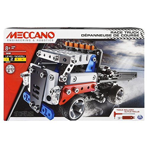Erector by Meccano, Race Truck Model Vehicle Building Kit, for Ages 8 and up, STEM Construction Education Toy