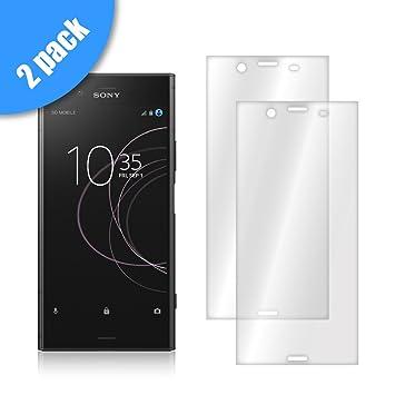 [Pack -2] Funnytech® Protector Cristal Templado para Sony Xperia XZ1 [No Cubre el Borde Biselado] I Vidrio Templado, Fijación Perfecta: Amazon.es: ...