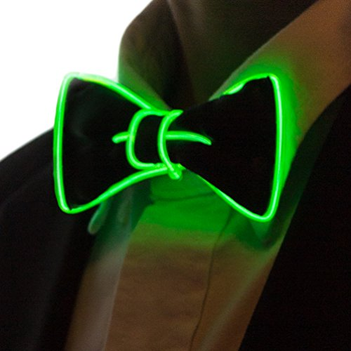 - Neon Nightlife Light Up Bow Tie for Kids, Green
