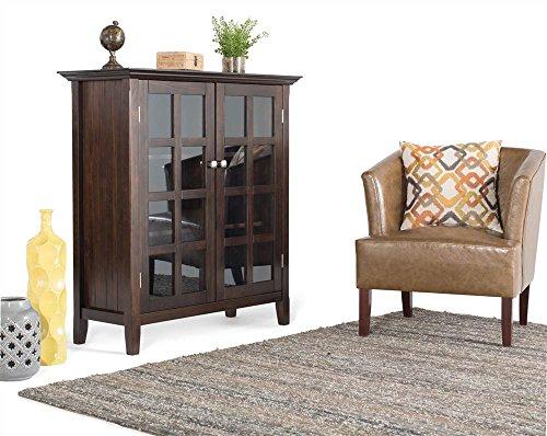 Simpli Home AXREG007 Acadian Solid Wood 39 inch wide Rustic Medium Storage Cabinet in Tobacco Brown