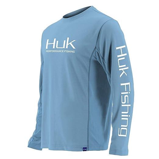 592dbaa1 Huk Men's Icon X Long Sleeve Shirt, Carolina Blue, Small