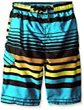 Kanu Surf Big Boys' Echo Stripe Swim Trunk, Aqua, Small (8)