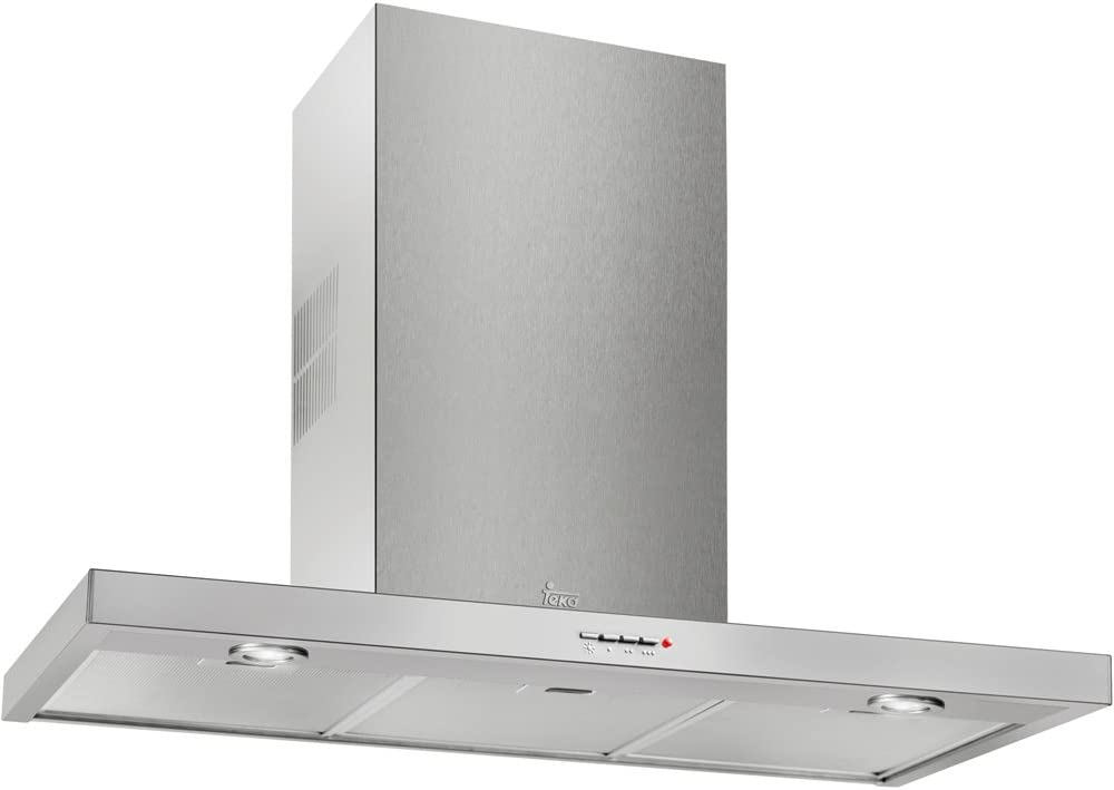 Teka DJ 750 De pared Acero inoxidable 380m³/h E - Campana (380 m³/h, Canalizado, F, F, D, 64 dB): Amazon.es: Grandes electrodomésticos