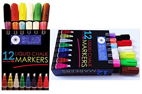 Fluorescent Liquid Chalk Markers SLAD