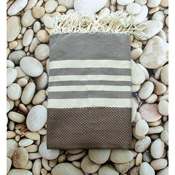 Dorset Marron - 100% algodón Fouta toalla de baño, 100cm x 200cm, probablemente la más versátil toalla se puede comprar ...