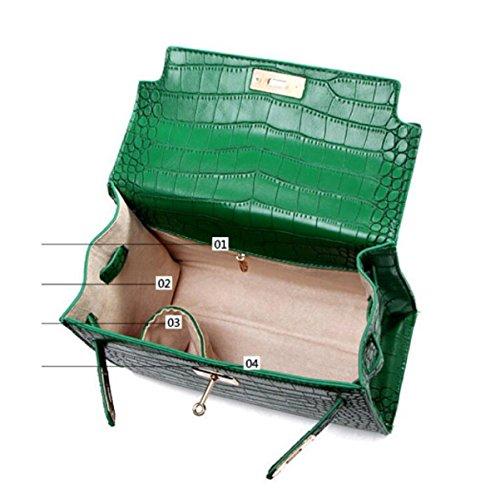 Platinum Beige Pattern Female Bag Fashion Shoulder Crocodile Bag Bag Diagonal IqwtZzM