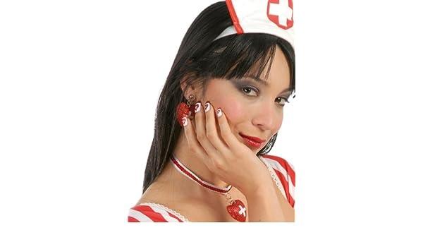 Uñas postizas hospital Decorado coloreada Enfermera: Amazon.es: Juguetes y juegos