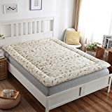 CNZXCO Thicken Sleeping Mattress pad Bed mattressstudent Dormitory, Collapsible Tatami Floor futon mat Quilted Fitted Mattress Topper-B 150x200cm(59x79inch)