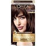L'Oréal Paris Superior Preference Permanent Hair Color, 4SM Dark Soft Mahogany Brown