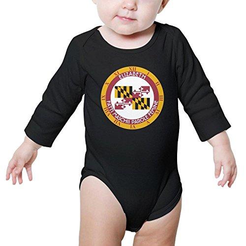 TylerLiu Maryland Old line State Flag Watch Unisex Baby Boys Girls Onesie Bodysuit Soft Comfortable