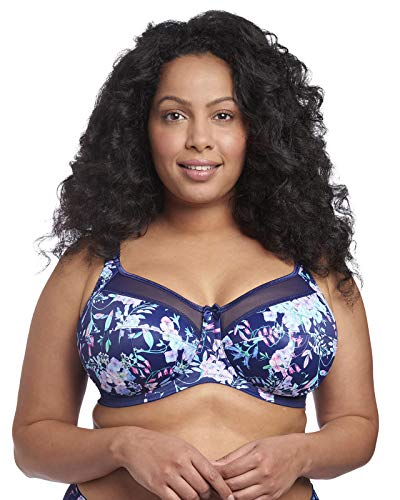 Goddess Women's Plus-Size Kayla Signature Print Full-Coverage Underwire Bra Bra, Bluebell, 42L