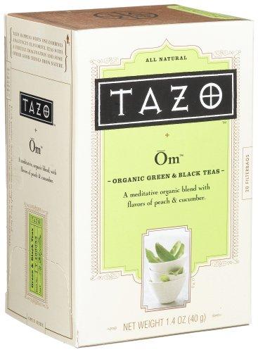 Tazo Peachy Green Organic Green & Black Teas, 20-Count Tea Bags (Pack of 6)