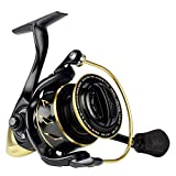 KastKing Sharky III Gold Fishing Reel, Zero-Flex Aluminum Body Spinning Reel, 39.5 Lbs Carbon Drag, 10+1 Double Shielded Ball Bearings, 5.2:1 Gear Ratio, Inshore or Freshwater. For Sale