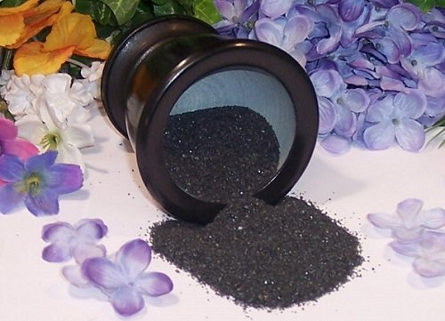 Black Lava Sea Salt Charged for Banishing and Binding Spells.