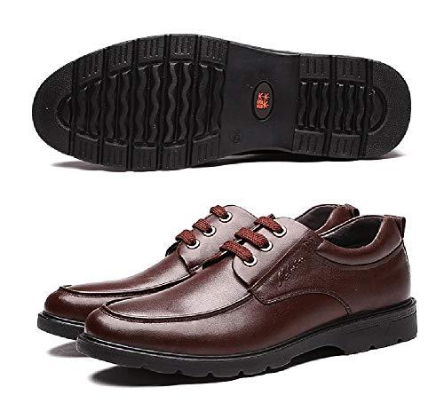 Scarpe 5 9 Per US 8 Per UK Scarpe 5 Stringate Comode Pelle dimensioni Brown Brown Colore LXLA Uomo Uomo Uomo Casual D'affari aF0vqC