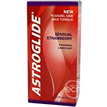 Astroglide Sensual Strawberry Flavored Water Based Lubricant Fragrance and Flavor of Fresh Strawberries Personal Lubricant 2.5 Ounce