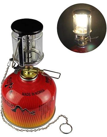 AUTOECHO Mini Portable Camping Lantern Gas Light - Camping al Aire Libre pequeña lámpara de Gas
