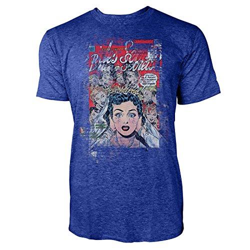SINUS ART® Wedding Nightmare Herren T-Shirts stilvolles blaues Cooles Fun Shirt mit tollen Aufdruck