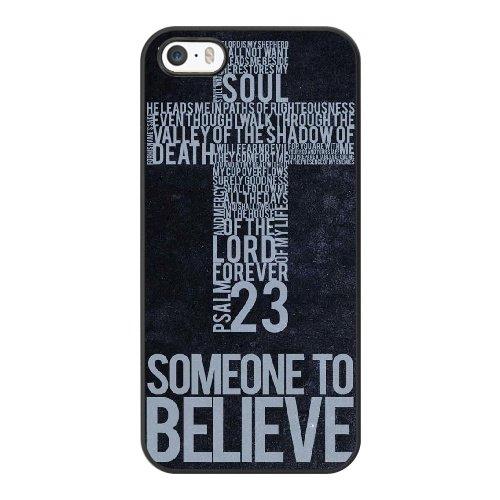 Coque,Coque iphone 5 5S SE Case Coque, Christian Cover For Coque iphone 5 5S SE Cell Phone Case Cover Noir